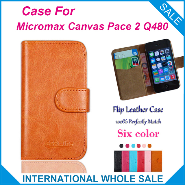 6 Colors Hot! Micromax Canvas Pace 2 Q480 Case,High Quality Leather Exclusive Case For Micromax Canvas Pace 2 Q480