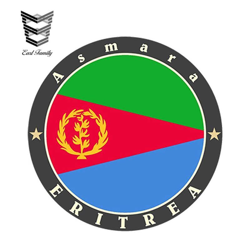 EARLFAMILY 13 ซม. x 13 ซม. สติกเกอร์รถ Eritrea ไวนิลสติกเกอร์แล็ปท็อปกระเป๋าเดินทางกันน้ำรูปลอกรถอุปกรณ์เสริม