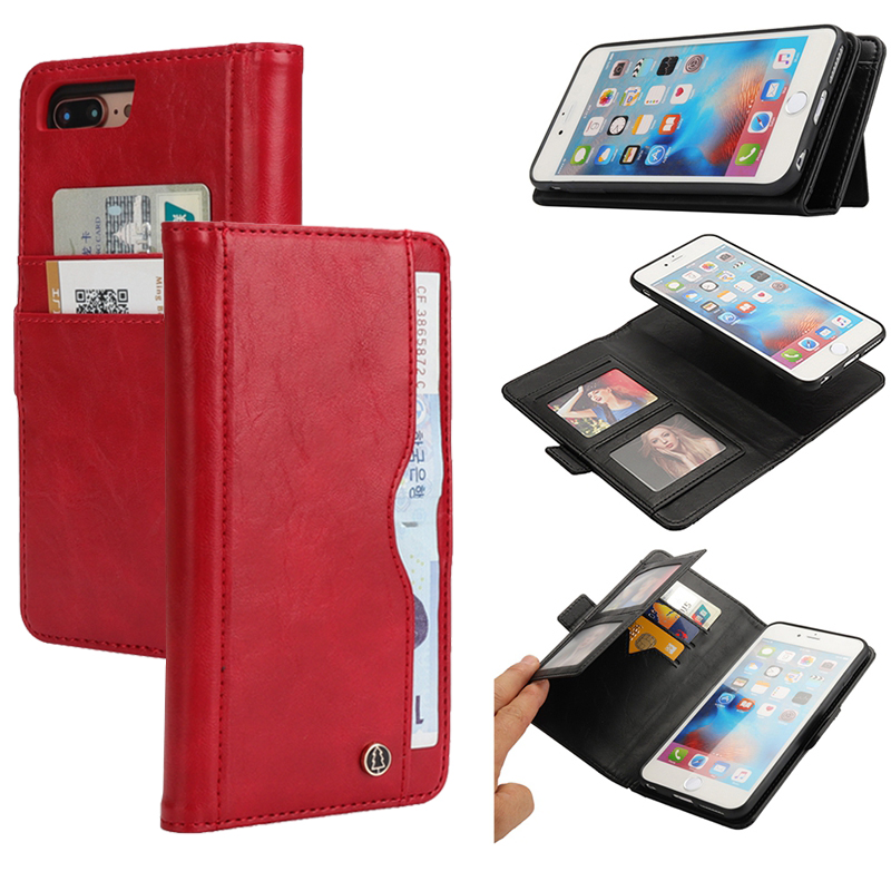 Flip Leather Case for iphone Xs Max iphone 6 s 6s plus X Wallet Card Holder