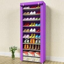 Минималистский современный нетканые обувь хранения обувь Организатор Подставка Экономия пространства мебель обувь шкаф 10-этажный обуви стойки