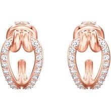 цена High Quality 1:1 Swa Continuous Twist Design Earrings European and American Fashion Earrings Female Decorations в интернет-магазинах