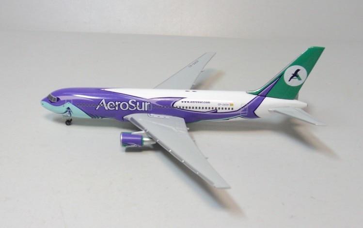 AeroSur B767-200 Herpa air CP-2659 aircraft model 1:500 hogan 1 400 ana 767 300 ana ja8674 aircraft model