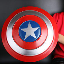Superbohater Weapo 1:1 pełna metalowa osłona Cosplay tarcza sprawiedliwość okrągła broń film Prop do odgrywania ról Model figurki prezent na Halloween 47cm