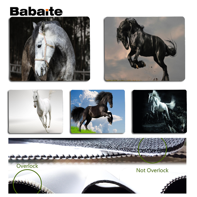Babaite High Quality Horse Large Mouse pad PC Computer mat Size for 180x220x2mm and 250x290x2mm Small Mousepad