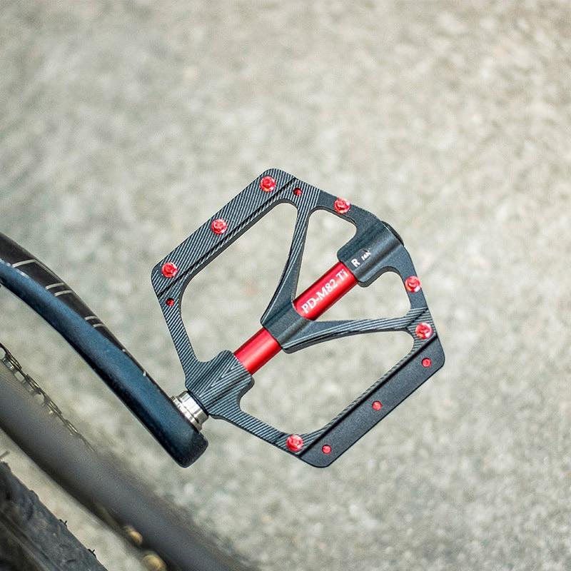 Купить с кэшбэком Mountain Bicycle Titanium Pedal Board Mtb Widened Road Bike Sealed Bearing UltraLight Cycling Parts Accessories Flat Platform