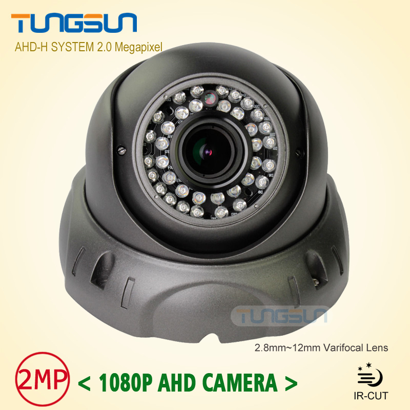 2MP CCTV HD 1080P Zoom AHD Camera 2.8-12mm Lens Security Varifocal 36* LED Infrared Vandal-proof Metal Dome Video Surveillance new 2mp hd cctv ahd camera 1080p zoom 2