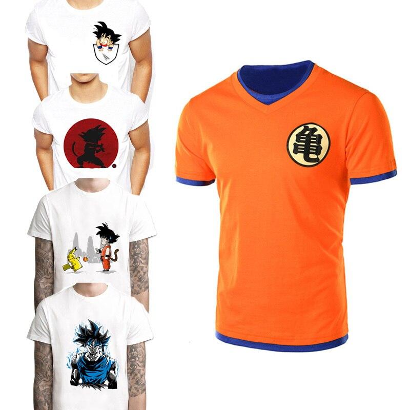 2018 T Shirt Men Super Dbz Vegeta T-shirt Goku Saiyan Super Tshirt Dragon Ball Cosplay Costume DragonBall Z