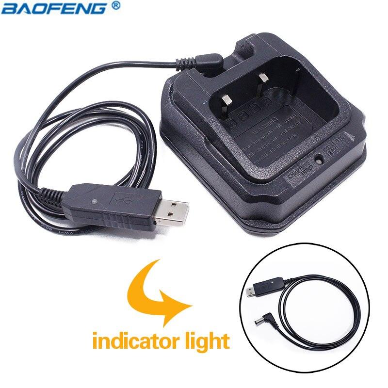 Baofeng UV-9R Étanche USB Pâte Chargeur Pour BaoFeng UV-XR A-58 UV-9R Plus GT-3WP UV-5S Retevis RT6 Étanche Talkie Walkie