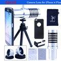 Camera Lens kit Telescope 14X de zoom da lente + 0.67X Wide Angle & Macro Lens + Fisheye Lens Mini tripé com case para iPhone 6 Plus CL-22S