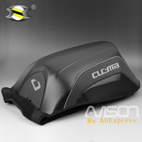 Motorcycle Backpack Helmet Bag Hang Motorbike Hard Shell Bag Fashion Bags Carbon Fiber Decorative Pattern Can Put Computer Shoes