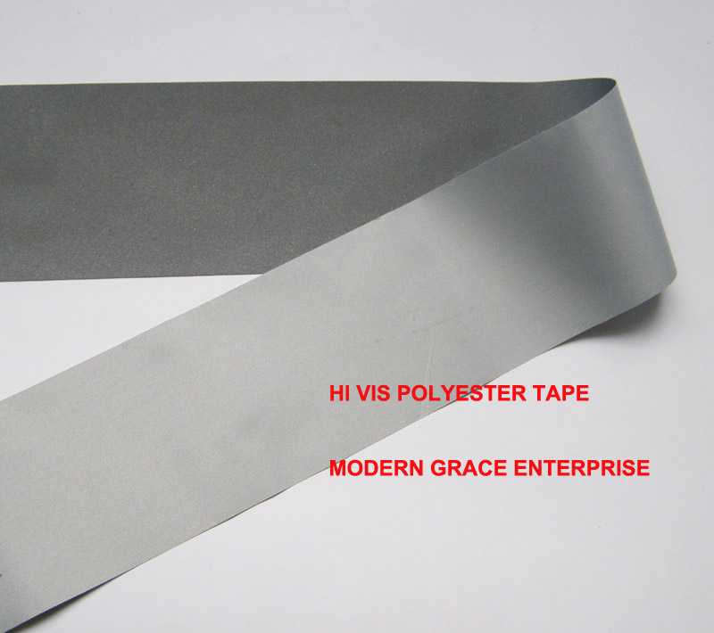 Diy 5cmx3 meter hi visibility grade reflective sewn tape polyester backing gray color free shipping