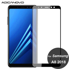 For samsung A5 A6 A7 A8 2018 glass full cover tempered glass on samsung A6 A8