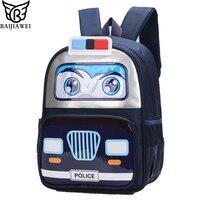 Baijiawei Дети автомобилей рюкзак ученики 3D моделирование автомобиля мешок из искусственной кожи Водонепроницаемый Обувь для мальчиков рюкзак...
