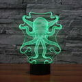 Forma de pulpo 3D USB Ligero Toque lámpara de Mesa Lampara como Al Lado de La Lámpara 7 Que Cambia de Color de Luz Ambiente para Niños Luz de La Noche de Regalo de Navidad