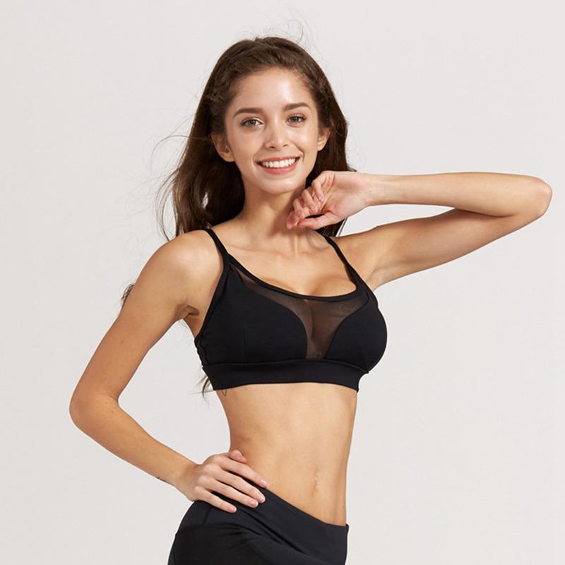 c8263c32032d0 Lumier 2017 Breathable Sportwear For Female Sport Bra Bh Gym Lulu Yoga Strap  Transparent Mesh Design Women Running Fitness Bras-in Sports Bras from  Sports ...