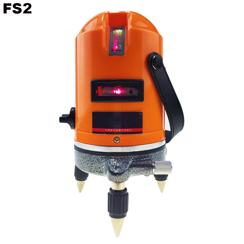 Laser Level 2 Red Cross Line 1 Point 360 Degree Rotary Self- leveling Nivel Laser Diagnostic tools AcuAngle FS2 new fukuda automatic self leveling 5 line 1 point 4v1h laser level ek 234p