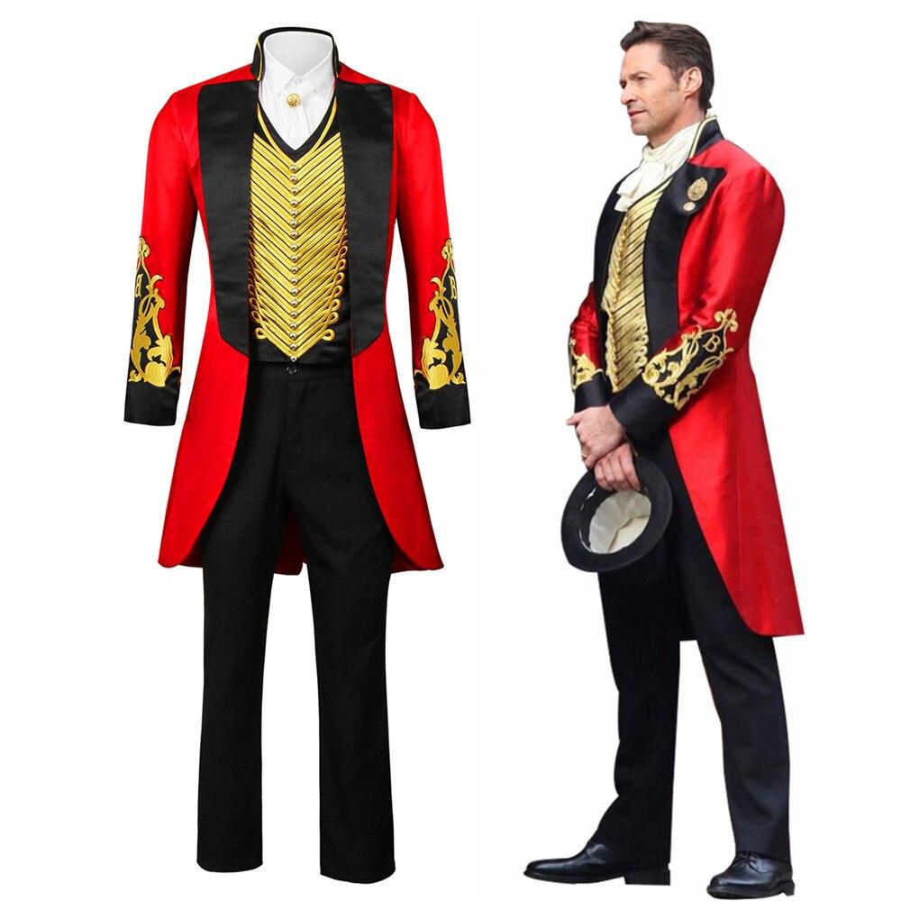 Le plus grand Showman P.T. Barnum Costume Cosplay tenue adulte hommes ensemble complet uniforme Halloween carnaval Cosplay tenue sur mesure