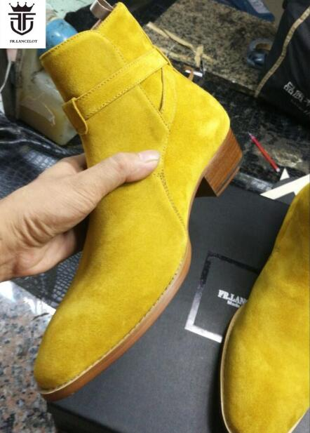 Botines Zapatos Hombres Pic Correa De Botas Fr Gamuza Los Tobillo As Chelsea Lancelot Otoño Cuero Hebilla Tacón 2019 Bajo Medicina xRYqwHw7Tp