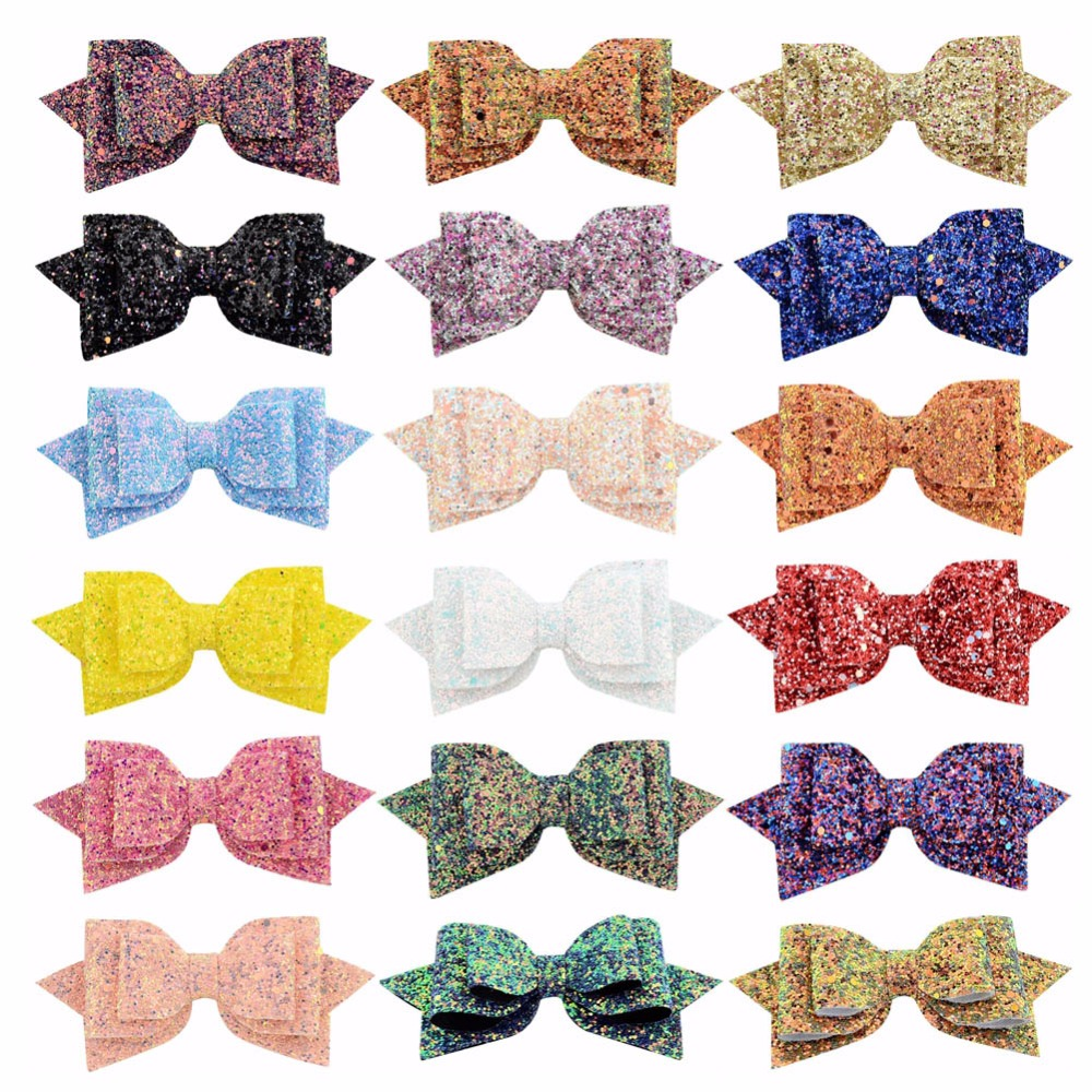 Glitter Shiny Halloween Polkadot Pack Of Hair Bows Alligator Clip Girls Cheapest Price From Our Site