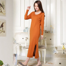ФОТО free shipping 2015 new long women cashmere dress maxi plus size  casual evening party sexy dresses knitting loose solid clothing