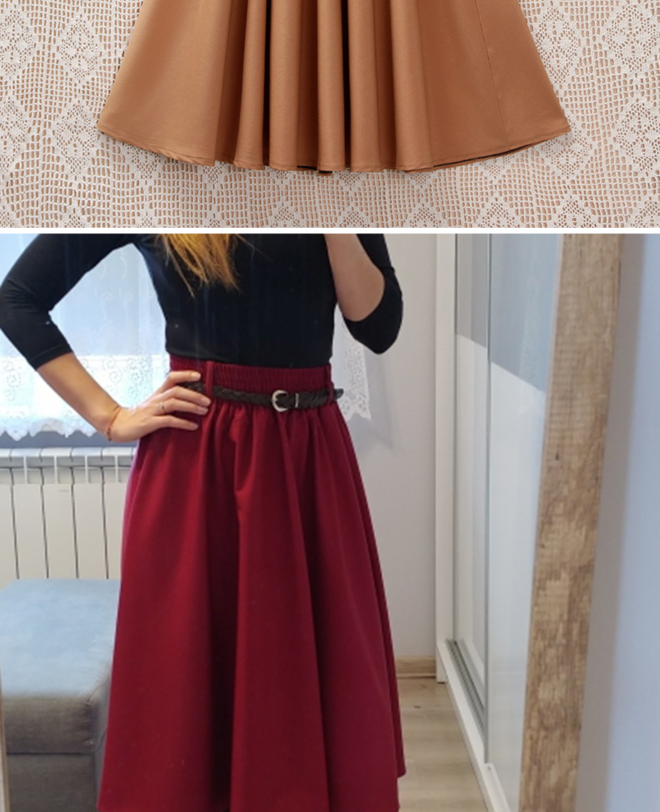 Surmiitro Midi Knee Length Summer Skirt Women With Belt 19 Fashion Korean Ladies High Waist Pleated A-line School Skirt Female 13