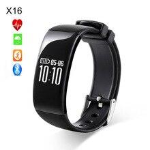 Точный монитор сердечного ритма X16 Bluetooth Smart Band Пальминг яркий Экран браслет Водонепроницаемый IP67 фитнес-трекер браслеты