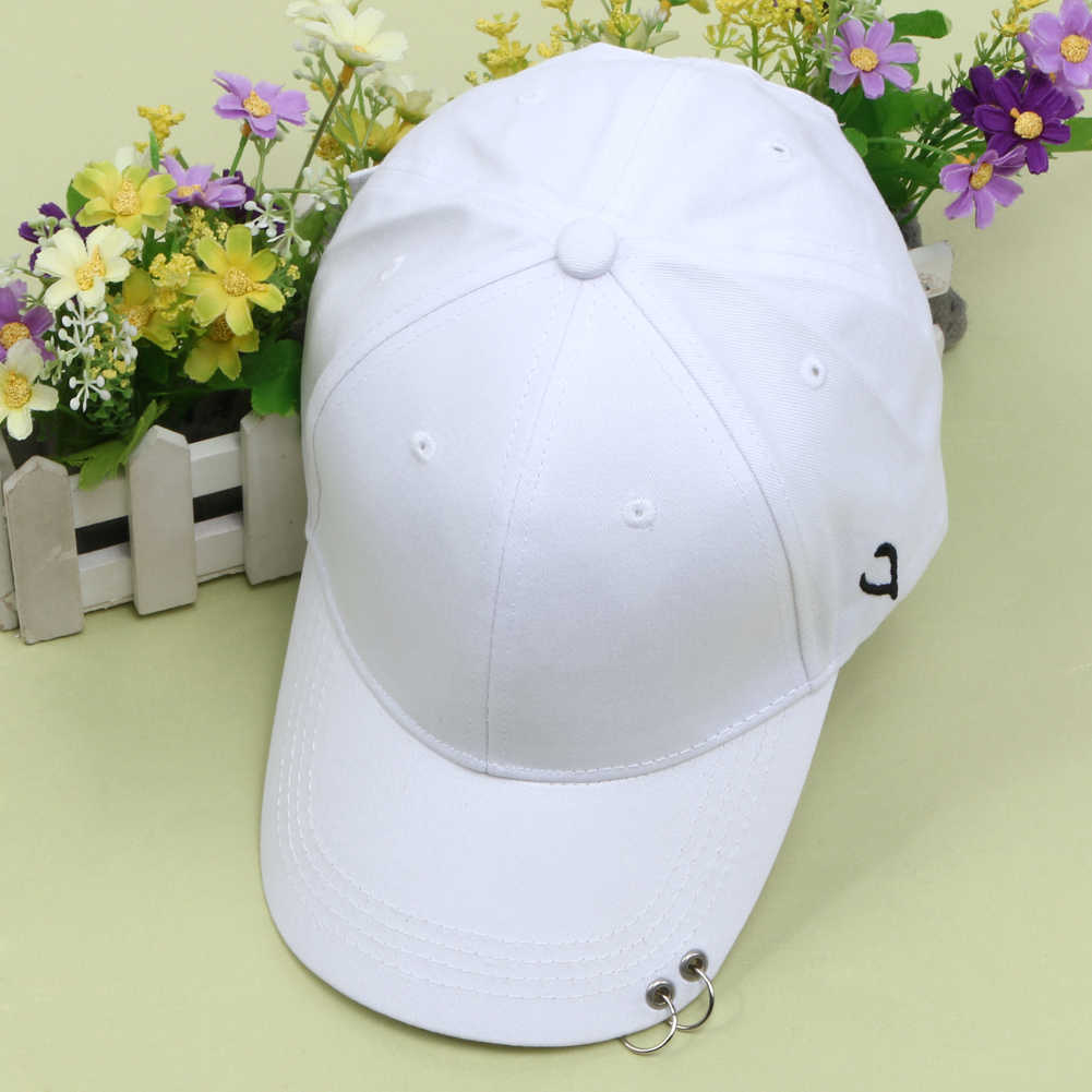 f4e764eb64a73 ... Summer Autumn Baseball Cap Icon Unisex Solid Ring Safety Pin Curved  Hats Men s Casual Snapback Hip ...