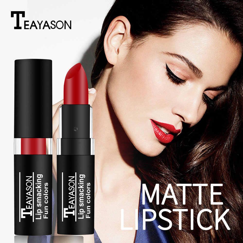 Rouge à lèvres vert Teayason couleur vampire foncé pour fête d'halloween imperméable longue durée 12 couleurs rouge à lèvres noir violet AM077
