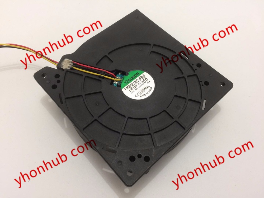SUNON PMB1212PLB2-A (2).B1121.R.GN Server Blower Fan DC 12V 9.4W 120x120x38mm 3-wire free shipping emacro sf7020h12 61as dc 12v 250ma 3 wire 3 pin connector 65mm6 server cooling blower fan