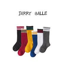 Children's Socks Long Stripes High Knitted Parallel Bars Baby 1~12 Ages Kid Boys Girls Unisex Autumn Tide Winter 6pairs/lot