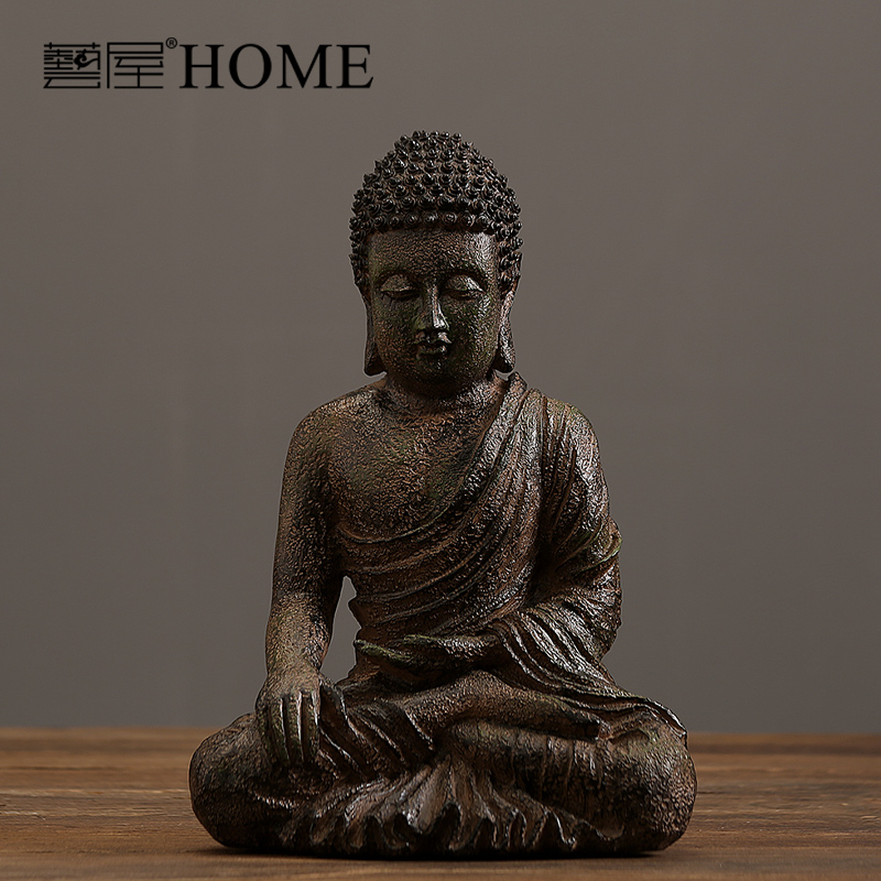 India Style Hand Made Resin Buddha Sculpture Home