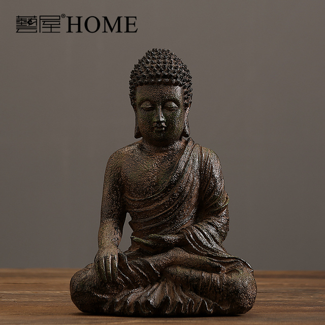 India Style Hand Made Resin Buddha Sculpture Home Furnishing Living Room Decoration Decor Luxury