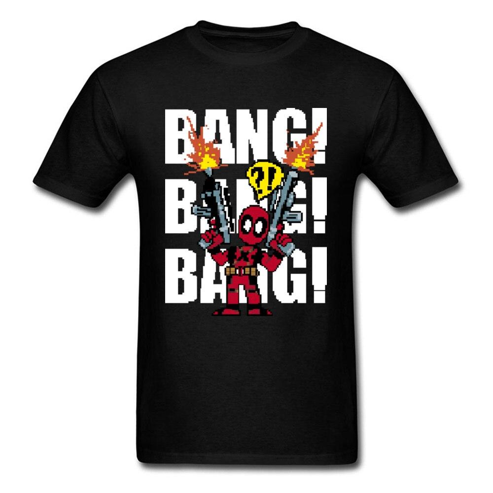 Bang 2018 Deadpool Dicetak Pria Kaus Piksel Kartun Desain Pria Lucu Kaus Hitam Ar15 Permainan Kaus Musim Panas Pakaian di T shirt dari Pria Pakaian &