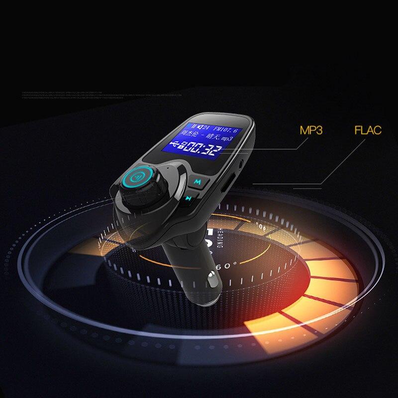 Hot sale <font><b>T11</b></font> Car Mp3 Player Wireless <font><b>Bluetooth</b></font> Fm Transmitter Modulator HandsFree Car Kit Dual USB Charger TF AUX Multifunction