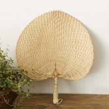 Горячая Распродажа, крутой детский вентилятор от комаров, летний ручной соломенный вентилятор для рук, пальмовый лист