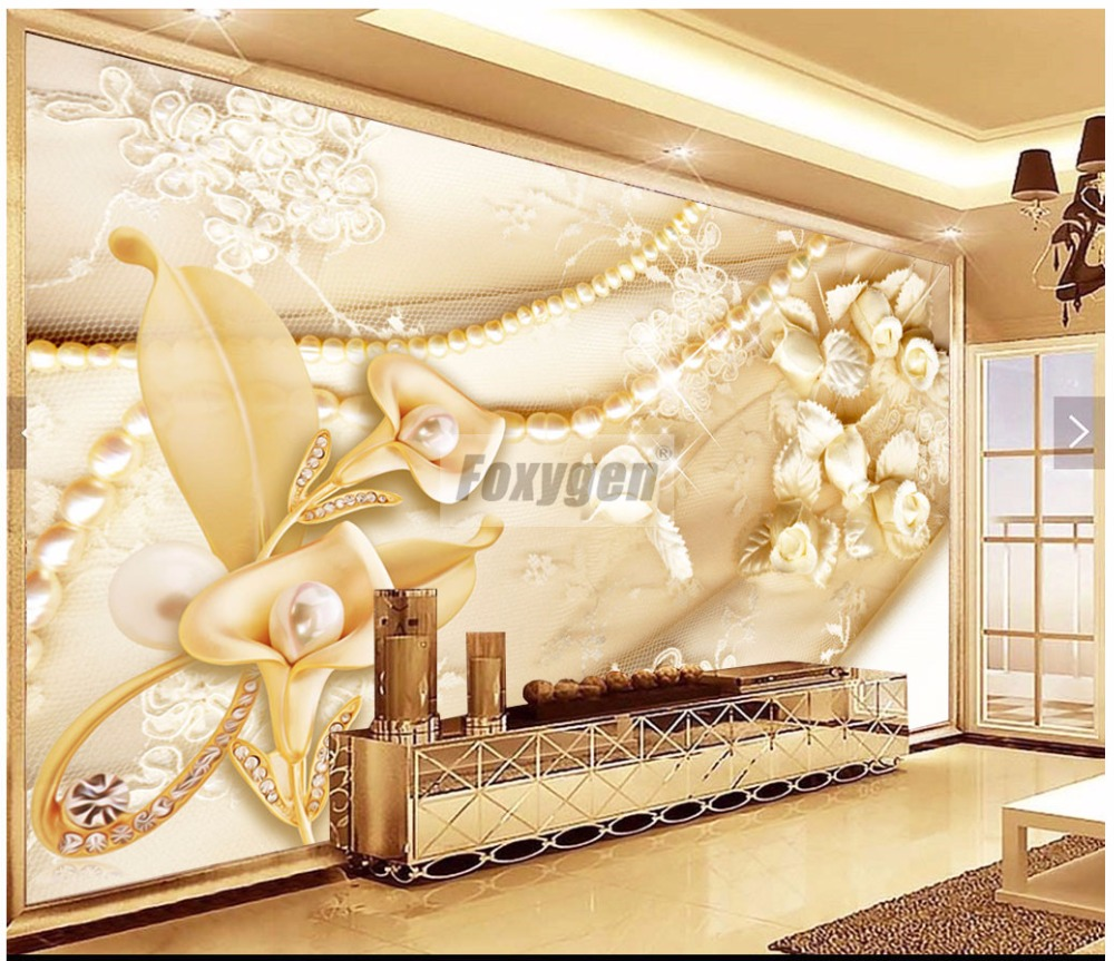 Art wallpaper 3D FLower Abstract Designs TV background/living room ...