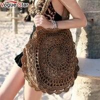 2018 Bohemian Straw Bags For Women Big Circle Beach Handbags Summer Vintage Rattan Bag Handmade