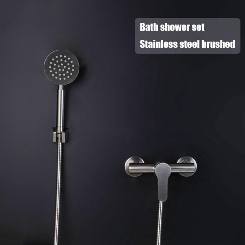 Bad probe dusche set edelstahl mixer bad dusche wasserhahn mit handheld dusche kopf badewanne wasserhahn ventil