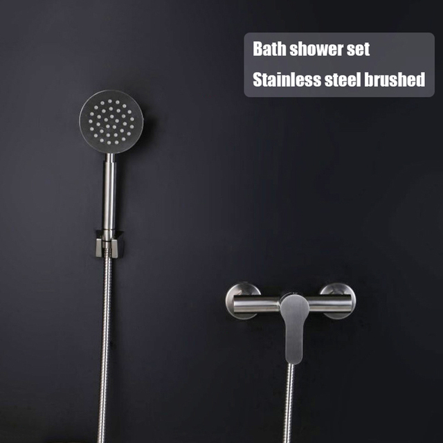 Bathroom Sample Shower Set Stainless Steel Mixer Bath Shower Faucet