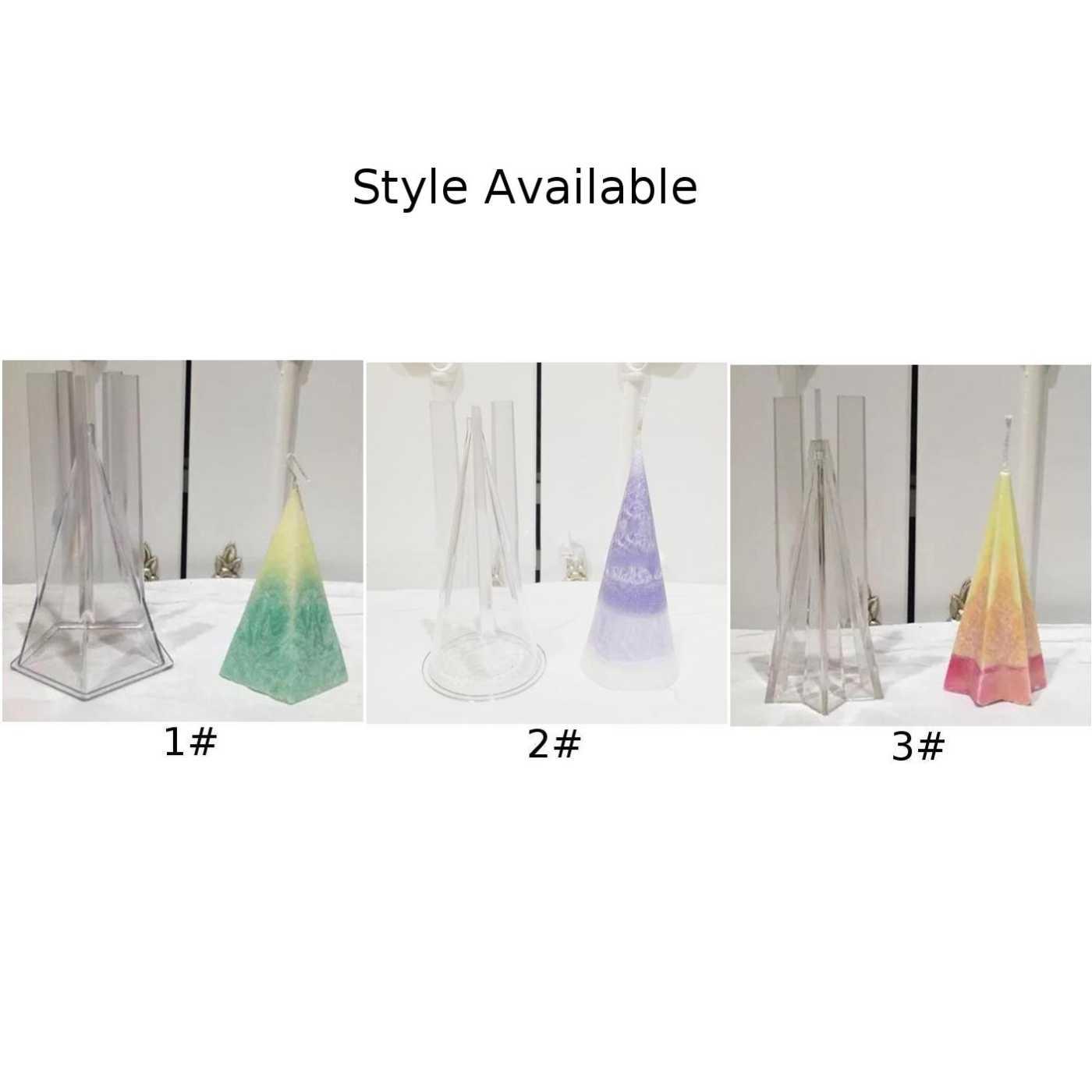 DIY El Yapımı Mum Kalıp Koni Şeffaf Plastik Mum Yapımı Model Kullanımlık kurutulmuş çiçek tealight kokulu mumlar şekillendirme kalıp