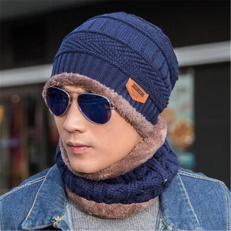 Neck warmer winter hat knit cap scarf cap Winter Hats For s