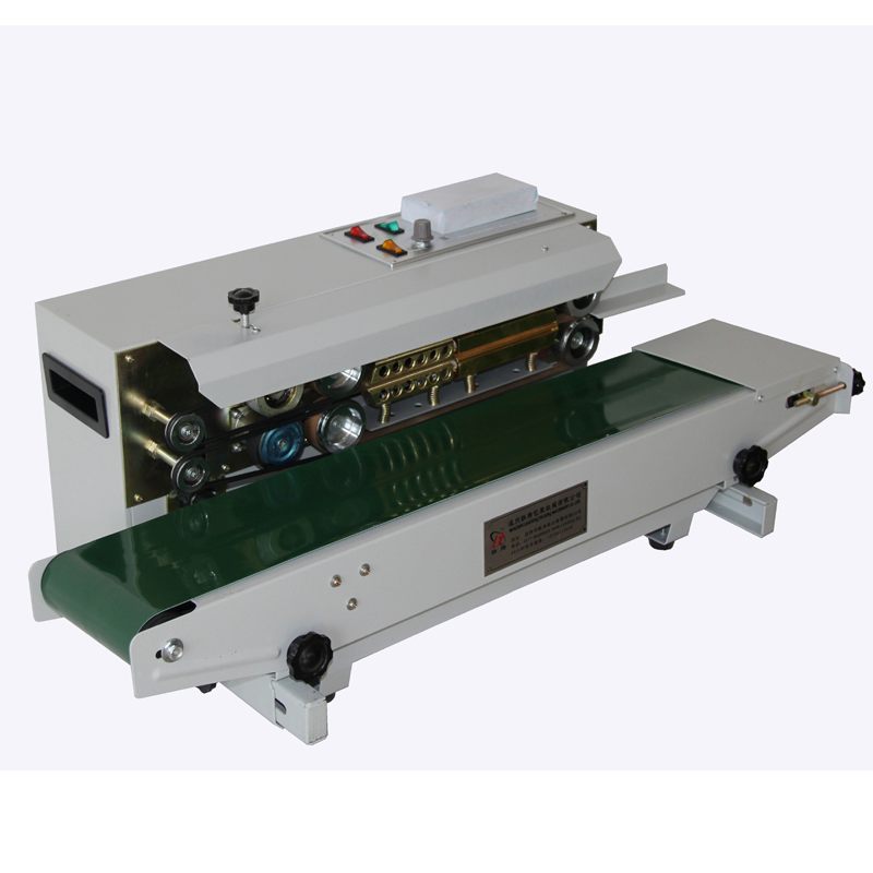 FR-900 continuous sealing machine automatic plastic film packag machine Additional equipment printing date automatic bag sealing machines