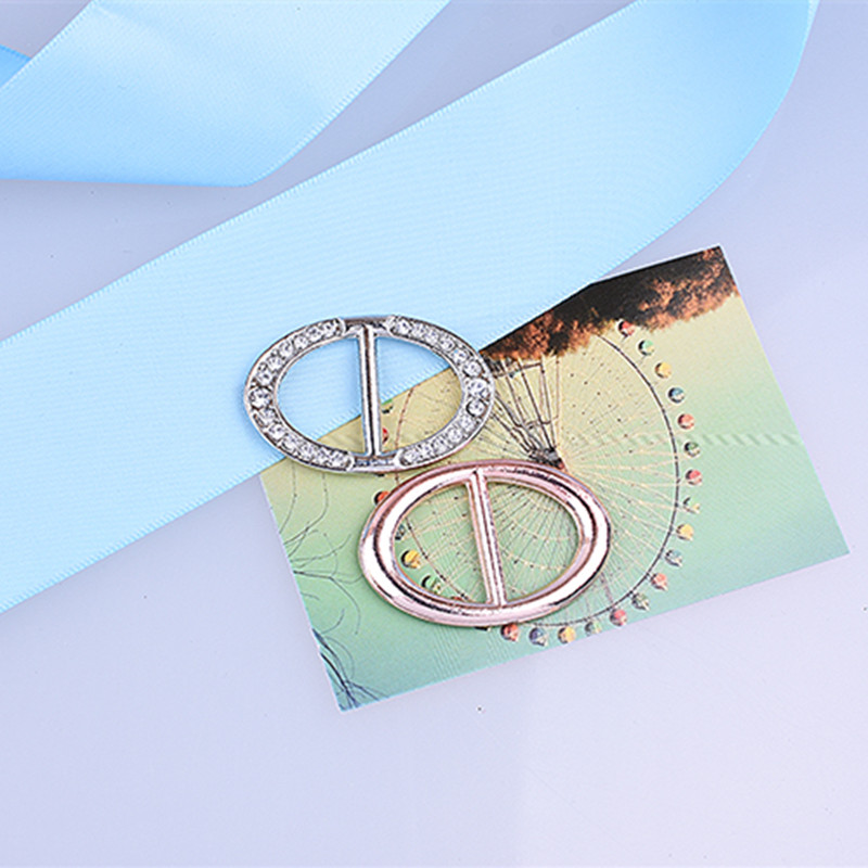 fashion simple brooch pins letter h scarf buckle shawl buckle men women rhinestones brooch scarves ring
