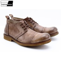 Туфли на плоской подошве в британском стиле ретро, на шнуровке, на плоской подошве, мягкая кожа, модная мужская повседневная обувь, натураль