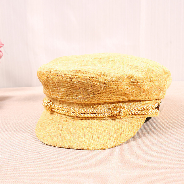 2018 Flat Navy Hat For WOmen Yellow Pink Girls Autumn Beret Hat 2018  Vintage Cotton Blend Spring Winter Casual Beret Cap Hat aa1f4314043
