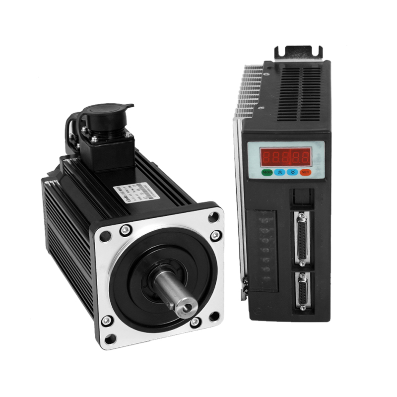 1kW AC servo motor and driver 4N.M 2500RPM 90st-M04025 servo motor cnc + Matched Servo Driver high quality ac servo motor 60st m00630 200w 3000rpm 0 637nm and matched servo driver ep100b 3a