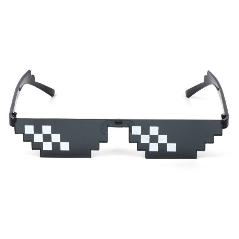 HBB 1PC Brinquedos Piada Thug Life Óculos Lidar Com Isso Pixel de Óculos Mulheres Homens Óculos de Sol Óculos de Mosaico Preto Adultos Crianças brinquedos da novidade Presentes
