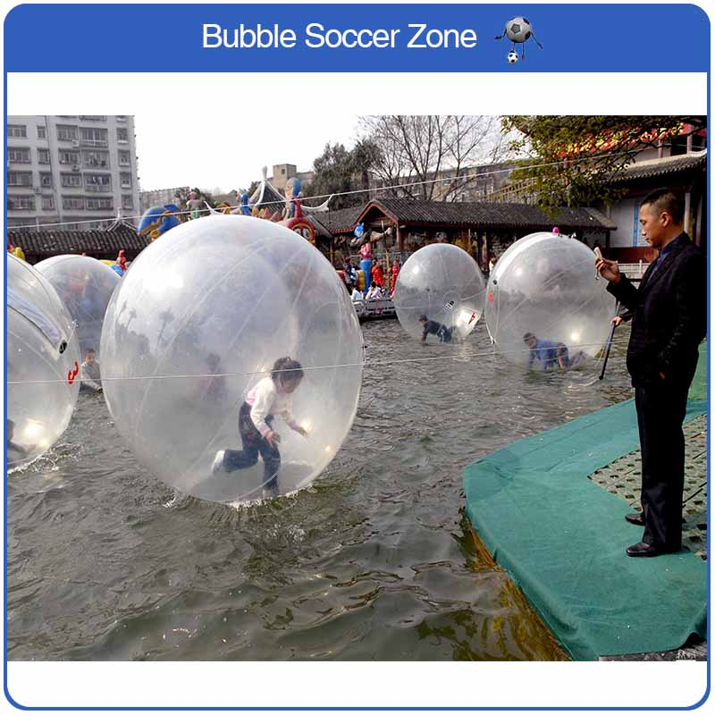 Free Shipping Popular Water Walking Ball 2m PVC Giant Inflatable Zorb Balloons Water Walk Ball Dancing Ball Human Water Ball scuba dive light