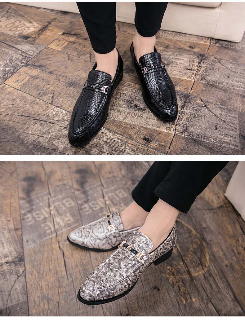 New Spring Autumn Man Dress Shoes fiber Pointed Toe Breathable Fashion Sleeve Business Wedding Oxford Formal Shoes for Meal (8)