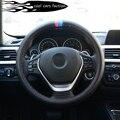 A estrenar tela de fibra de carbono cubierta del volante del coche para BMW e46, e39, e90, e36, e60, f30, f10, x5 e53, e34, e30, m3, x1, x3, X6car-styling